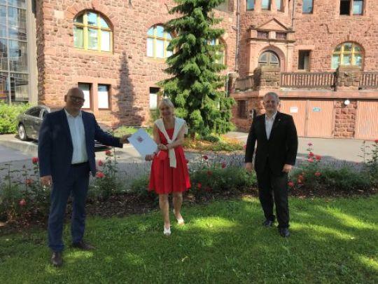 Bescheidübergabe Förderung 2021 Juli Odenwaldkreis